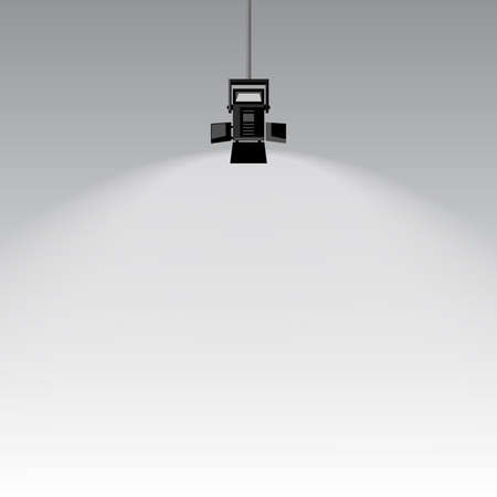 Spotlight on gray background Illustration