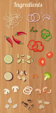 Ingredients for cooking pasta Stock fotó - 138430481