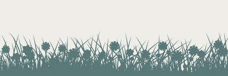 Grass silhouette Illustration