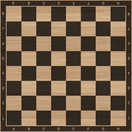 Schachbrett. Hintergrund für Schachspiel mit Holzstruktur.