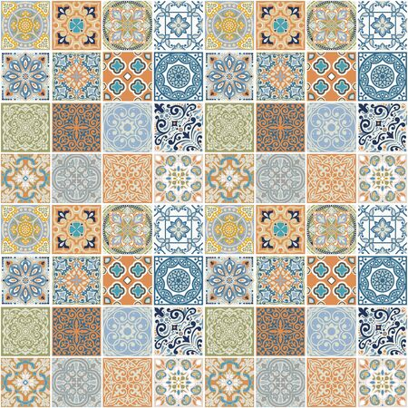 seamless pattern Geometrical design of squares. Printing fabric, wallpaper