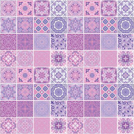 Conception géométrique de carrés, motif harmonieux imprimé sur tissu, papier peint, carrelage