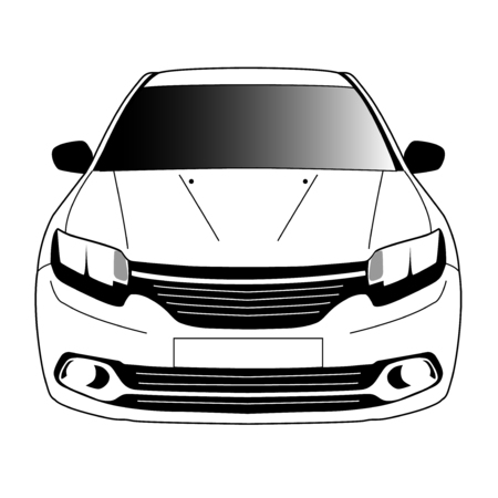 the passenger: black and white modern passenger car