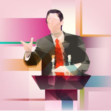 연설자 일러스트