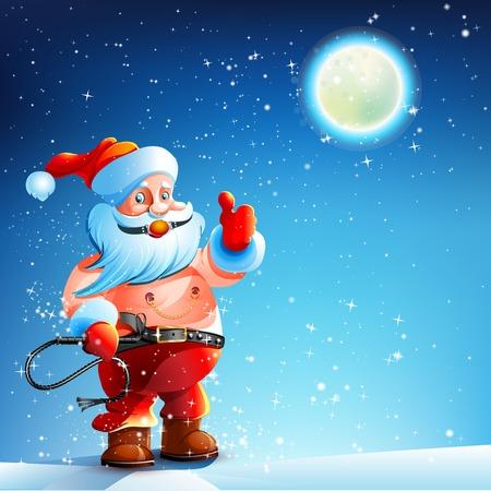 Costume BDSM  Gag Santa Claus