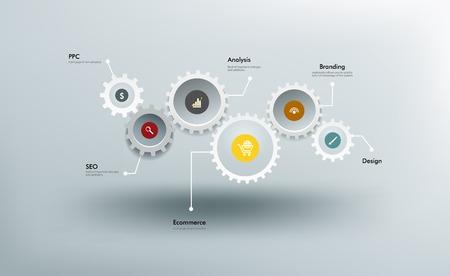 Infographics  イラスト・ベクター素材