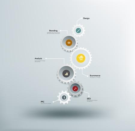 Vertical gears Stock Illustratie