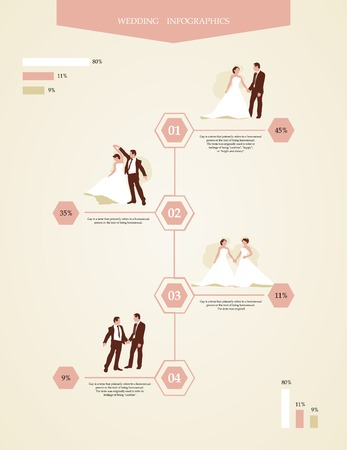 info graphics with gays and lesbians Vector