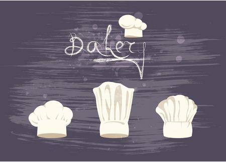 chef hat: Set cooks caps Illustration
