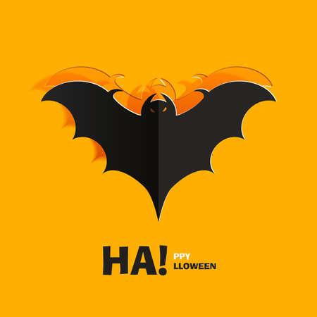 halloween concept: Bat cut out of paper Illustration