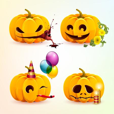 Set of pumpkins Vector