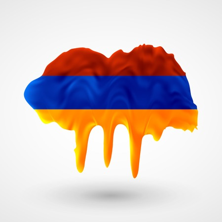 armenian: Armenian flag painted colors.