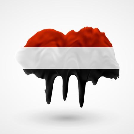Bandera De Indonesia Pintado Colores. Seque Con Rayas De Pintura Con ...