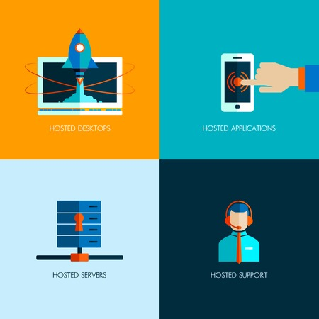 isp: Set of business icons. Flat design. Start up internet business and technology. Touchscreen phone. ISP server. Hosting. Consultant and technical support. Success in business. Personal computer. Illustration
