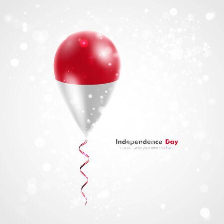 Flag of Indonesia on balloon.