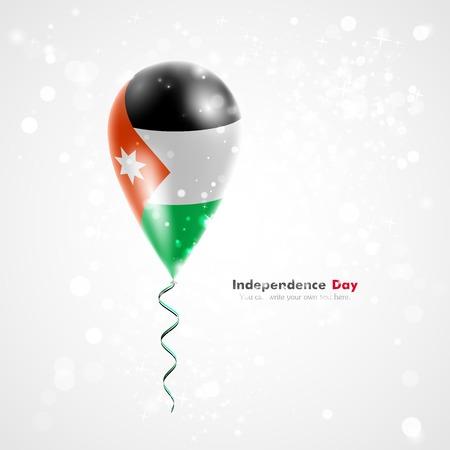 jordanian: Vlag van Jordanië op de ballon. Stock Illustratie
