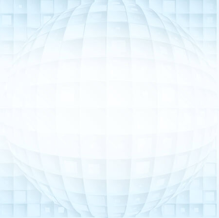 range of motion: Abstract vector volume blue shapes on a white gradient background Illustration