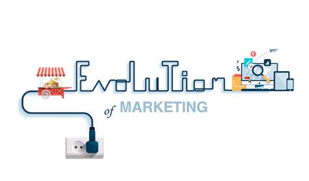 マーケティングの進化の図。
