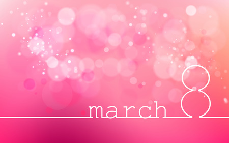 International Womens Day on March 8. Used for dackgrounds,  illustrations, images, vectors and icons.