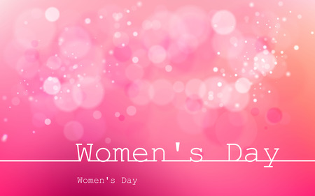 International Womens Day on March 8. Used for dackgrounds, illustrations, images and vectors and icons. Ilustração