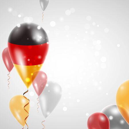 feast day: Flag of Germany. Independence Day. Flag of Micronesia on air balloon. Celebration and gifts. Balloons on the feast of the national day.  Use for brochures, printed materials, signs, elements Illustration