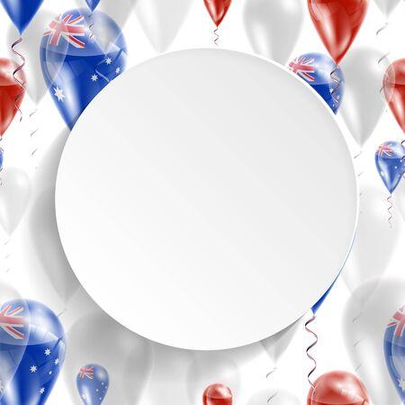 bandiera nazionale australiana. Giorno dell'Indipendenza. Bandiera della Micronesia sulla mongolfiera. Celebrazione e regali. Palloncini in occasione della festa della giornata nazionale. Utilizzare per brochure, materiali stampati, segni, elementi