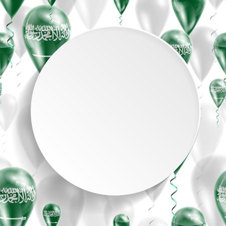 Drapeau de l'Arabie Saoudite. Le jour de l'indépendance. Drapeau de la Micronésie sur ballon à air. Célébration et cadeaux. Ballons sur la fête de la fête nationale. Pour les brochures, les documents imprimés, des signes, des éléments