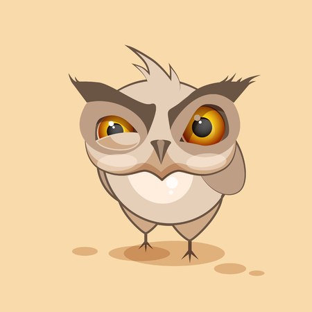 angry cartoon: Vector Stock Illustration isolated Emoji character cartoon owl sticker emoticon with angry emotion for site, infographics, video, animation, websites, e-mails, newsletters, reports, comics Illustration