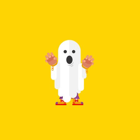 wraith: Stock vector illustration a ghost character for halloween in a flat style