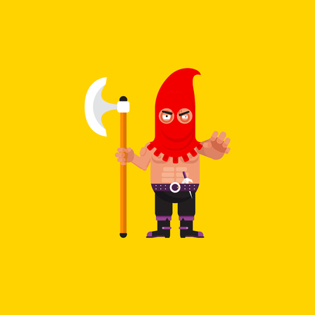 executor: Stock vector illustration a executioner character for halloween in a flat style Illustration