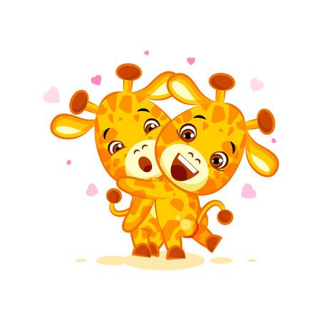 Emoji have hugs be mine character cartoon friends giraffe sticker emoticon