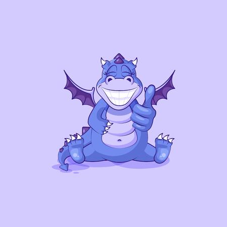 Cartoon dragon dinosaur approves