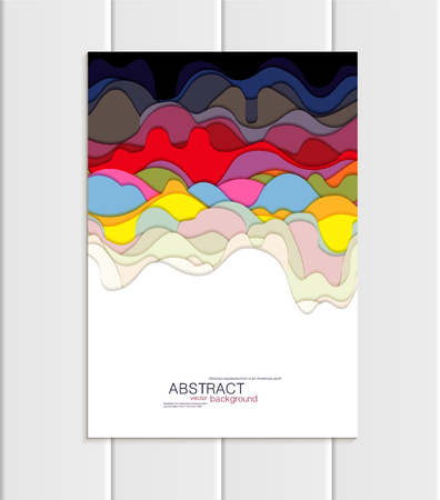 Vector brochure A5 or A4 format abstract uneven colorful shapes design element corporate style Ilustração