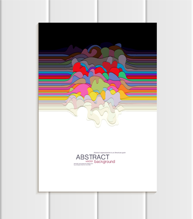 Brochure A5 or A4 format with uneven colorful shapes design