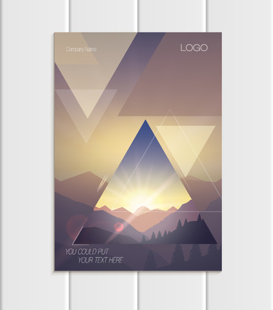 A Vector brochure format abstract uneven colorful shapes design element corporate style