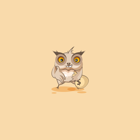 Vector Illustration isolated Emoji character cartoon wealth riches businessman Owl eagle-owl Owlet howlet sticker emoticon extend hand offer business deal cooperation money profit dollar earning.