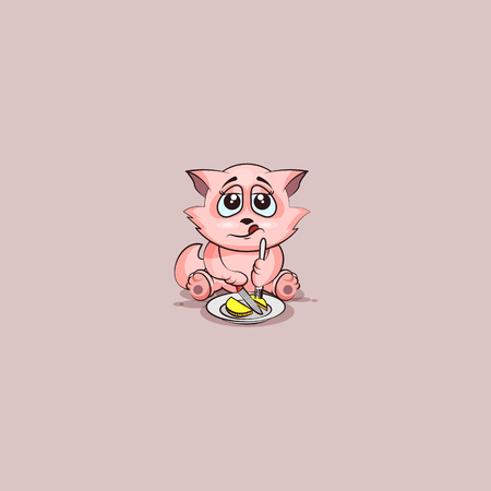 Vector Stock Illustration isolated Emoji character cartoon wealth riches businessman cat tomcat kitten kitty sticker emoticon business shares coin money profit dollar earning income salary currency value.