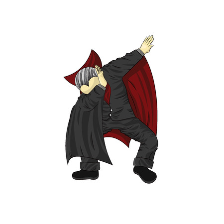 vampire character dancing dab step