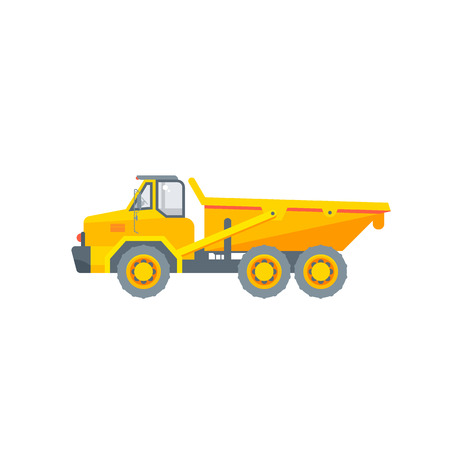 dumper truck illustration side view
