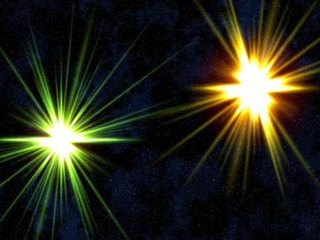 Two stars. photo