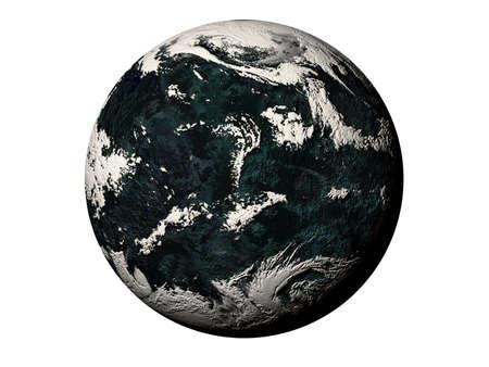 Illustration of darkly blue planet. Stock Illustration - 2785370