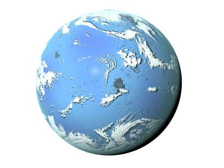 stratosphere: 3D illustration