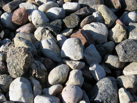Stones (pebbles), would make a very good background texture. Stock Photo
