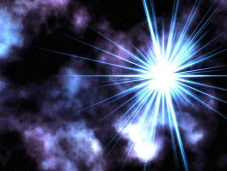 Raster illustration of stars. Stock Photo