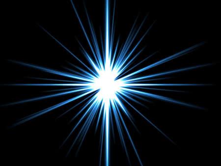 lucero: Estrella violeta en un fondo negro. Foto de archivo