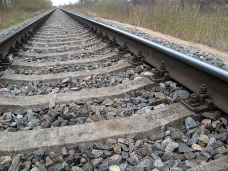 Long railway goes far in the country.  photo