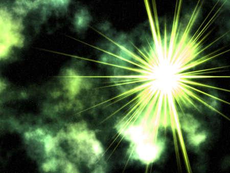 Raster illustration of stars. Stock Illustration - 2972479