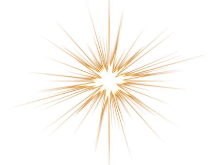 Ellow star on a white background.  Stock Photo