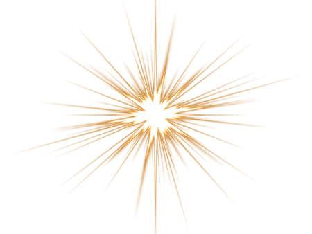 Ellow star on a white background. Stock Photo - 3071860