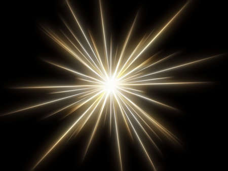 Star on a black background. Stock Photo - 3118851